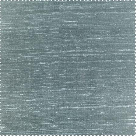 Mood Blue Textured Dupioni Silk Swatch