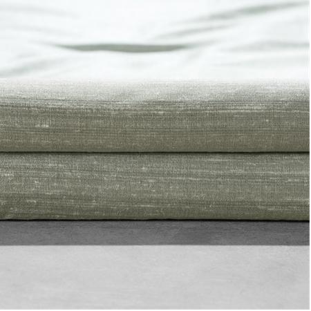 Turbulence Grey Textured Dupioni Silk Swatch