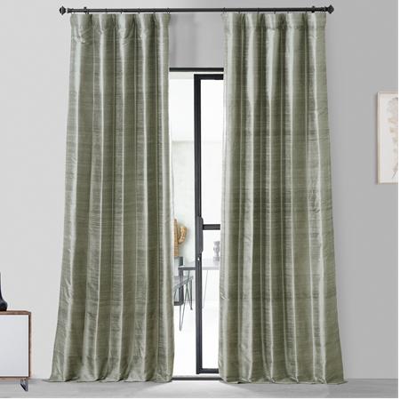 Turbulence Grey Textured Dupioni Silk Curtain