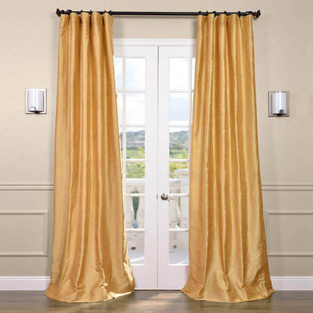 Sunrise Gold Textured Dupioni Silk Curtain