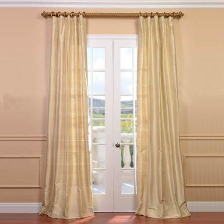 Maplewood Textured Dupioni Silk Curtain