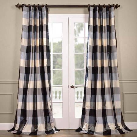 Oxford Silk Plaid Curtain