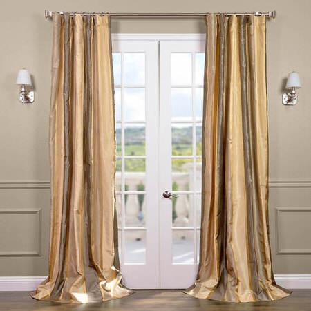 Wilmington Taffeta Silk Stripe Curtain