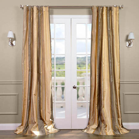 Wilmington Taffeta Silk Stripe Curtain