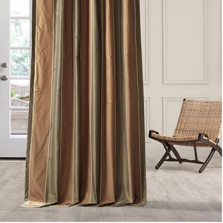 Windsor Taffeta Silk Stripe Curtain