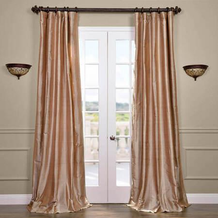 Cairo Dune Silk Stripe Curtain