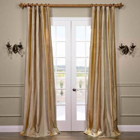 Palm Springs Silk Stripe Curtain