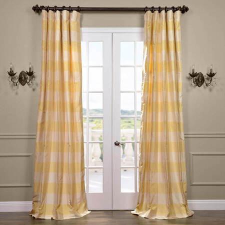Knotts Landing Silk Taffeta Plaid Curtain