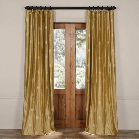 Mirror Butternut Gold Silk Curtain