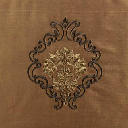 Taj Mahal Embroidered Silk Swatch