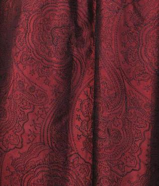 Merlot Jamawar Embroidered Silk Swatch