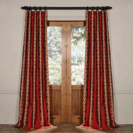 Dahlia Silk Curtain