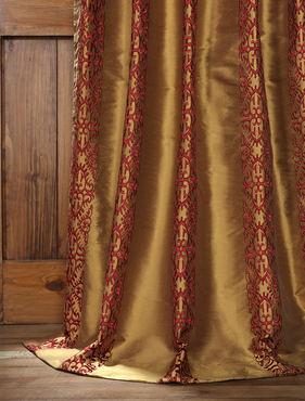 Rubia Silk Curtain