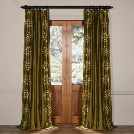 Cassandra Sage Green Thai Silk Curtain