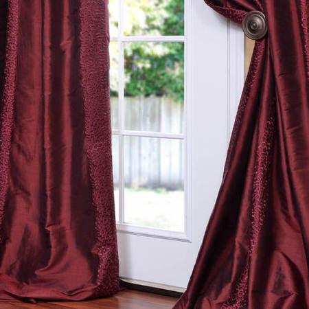 Baldwin Merlot Silk Curtain