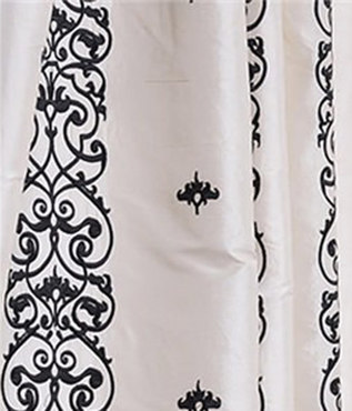 Indria Pearl White Silk Swatch