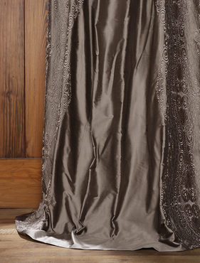 Chai Silver Thai Silk Curtain