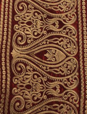 Bombay Bold Red Silk Swatch
