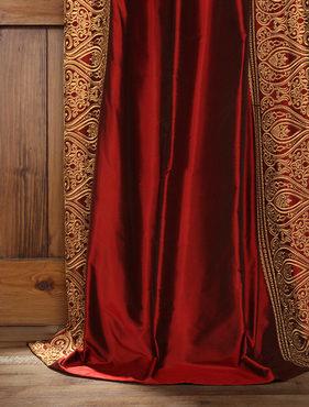 Bombay Bold Red Silk Curtain