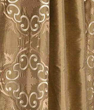Cassandra Taupe Gold Silk Swatch