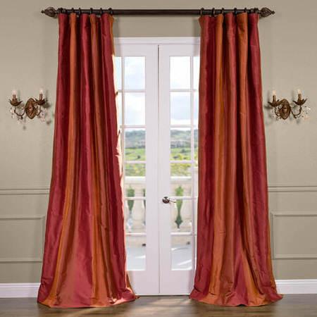 Woodbury Silk Taffeta Stripe Curtain
