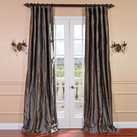 Preston Silk Taffeta Stripe Curtain