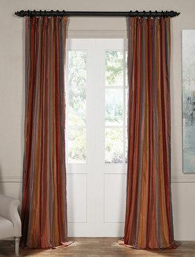 Fawn Multicolor Silk Stripe Curtain