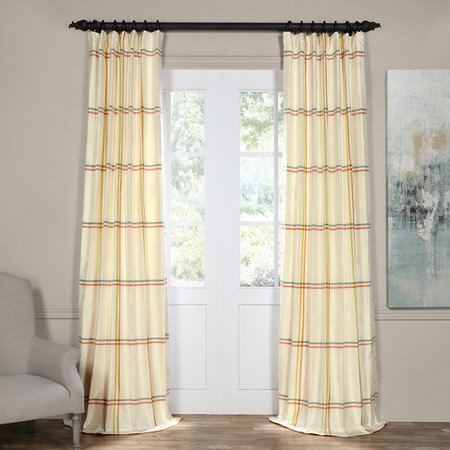 New Day Multicolor Silk Stripe Curtain