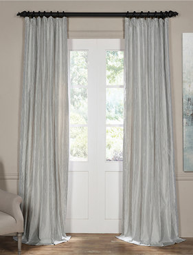 Carolina Blue Silk Stripe Curtain