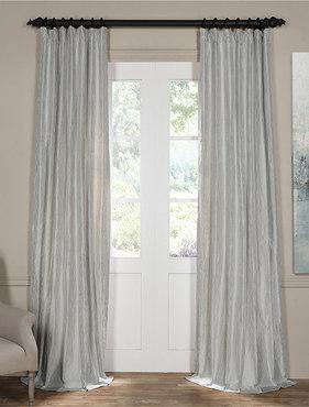 Carolina Blue Silk Stripe Curtain