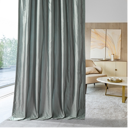 Blue Water Silk Curtain