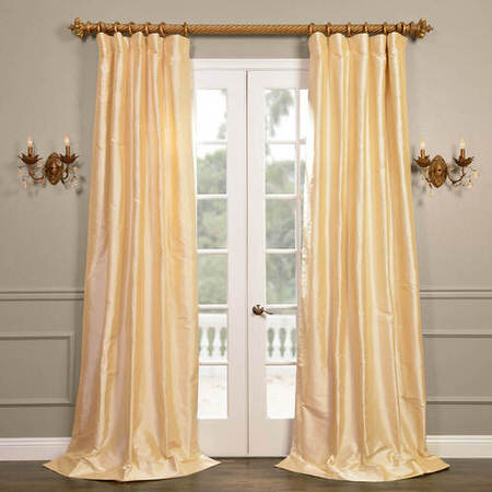 Cambridge Cream Silk Stripe Curtain