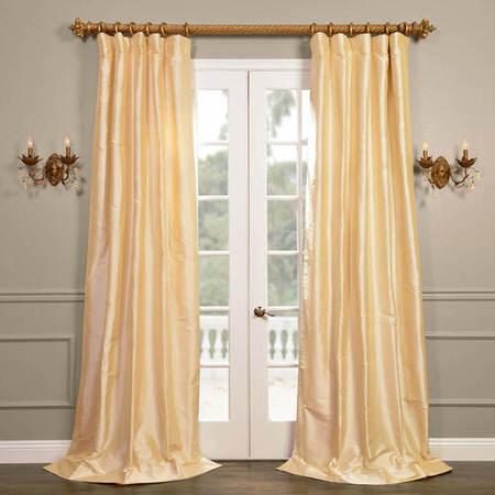 Cambridge Cream Silk Stripe Curtain