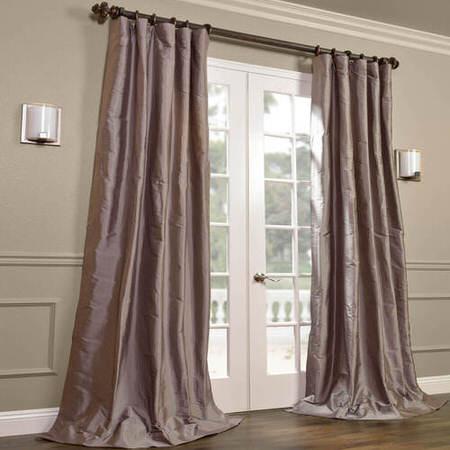 Cambridge Grey Silk Stripe Curtain