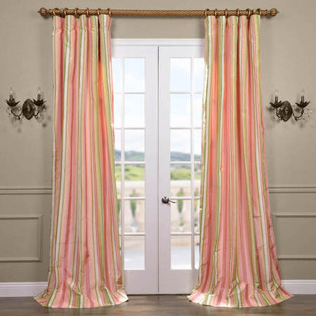 Serendipity Silk Taffeta Stripe Curtain