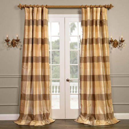 Sheffield Silk Plaid Curtain