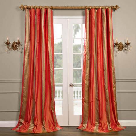 Waterford Sienna Silk Stripe Curtain
