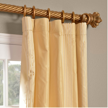Waterford Sand Silk Stripe Curtain