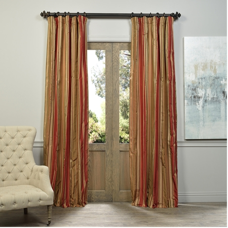 Alton Multi Stripe Designer Silk Curtain