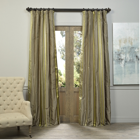 Bolton Multi Stripe Designer Silk Curtain