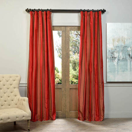 Clare Multi Stripe Designer Silk Curtain