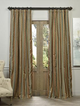 Dover Multi Stripe Designer Silk Curtain