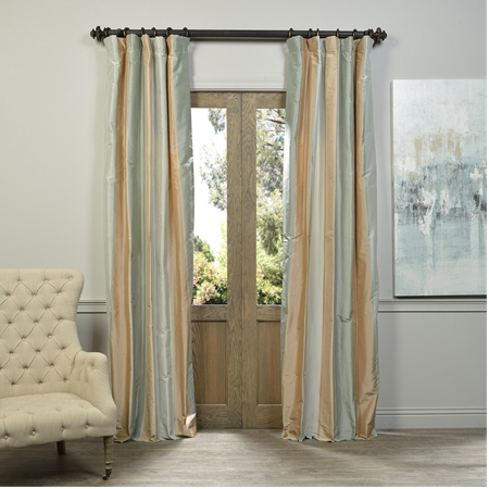 Hayle Multi Stripe Designer Silk Curtain