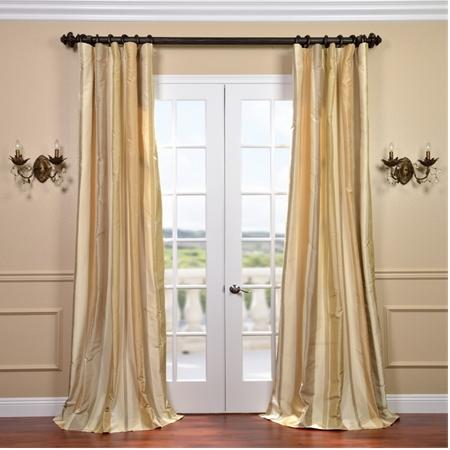 Belmont Silk Taffeta Stripe Curtain