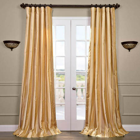 Beverly Hills Silk Taffeta Stripe Curtain