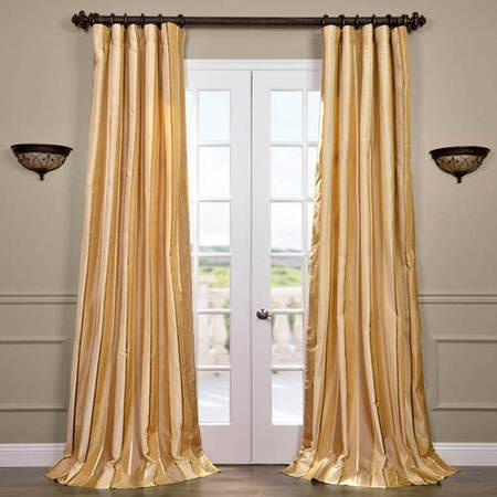 Beverly Hills Silk Taffeta Stripe Curtain