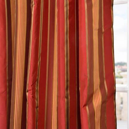 Melrose Silk Taffeta Satin Stripe Swatch
