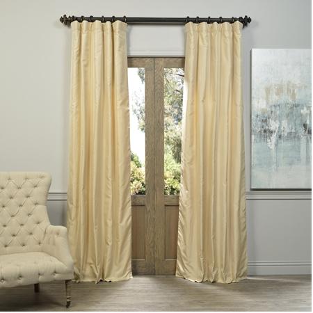 Morley Textured Solid Designer Silk Curtain