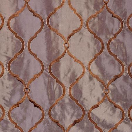 Tunisia Smoke Embroidered Faux Silk Taffeta Swatch