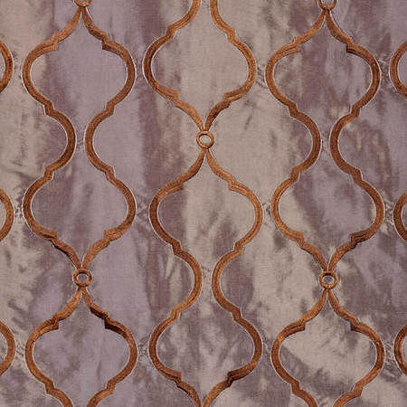 Tunisia Smoke Embroidered Faux Silk Taffeta Swatch